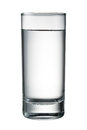 Water glass isolated on white. With clipping path Royalty Free Stock Photo