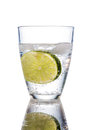 Water glass and lime Royalty Free Stock Photo