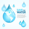 Water Globe Save Concept. Vector