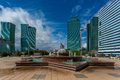 Water green boulevard in astana kazakhstan Royalty Free Stock Images