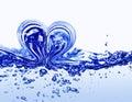 Water heart Stock Photos