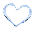 Water heart isolated on a white background Royalty Free Stock Photos