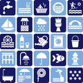 Water icons Royalty Free Stock Photography
