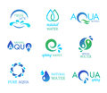 Water icons collection of representing and nature Royalty Free Stock Photo