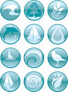 Water Icons_Round Stock Images