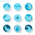 Water Icons, Vector Illustration Stock Image
