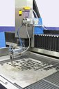 Water jet cutter high pressure cnc cutting machine in factory Stock Image