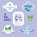 Water labels sticker badge or logo elements Stock Images