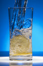Water and Lemon Slices Royalty Free Stock Image