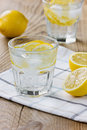 Water with lemons and ice cubes Royalty Free Stock Photography
