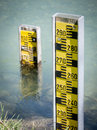 Water level indicators Stock Photos