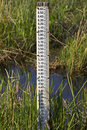 Water level measurement gauge Stock Photos