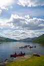 On the water at loch tay Royalty Free Stock Photo