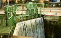 Water lock on the Saint-Martin canal Stock Photos