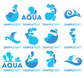 Water logo vector collection of icons and symbols Stock Photos