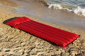 Water mattress on the beach Stock Images