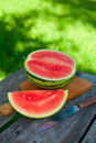 Water melon on cutting board Royalty Free Stock Photography