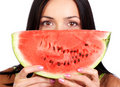 Water-melon diet Stock Image