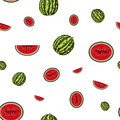 Water melon with seeds vector illustration you can use it to fill your own background Royalty Free Stock Images