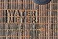 Water meter Royalty Free Stock Photo