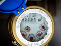 Water meter in close up Royalty Free Stock Image