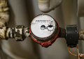 Image : Water meter, fitted to the mains system apartment. Industry conce  overload use
