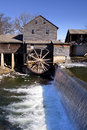 Water mill in pigeon forge tennessee watermill on the little river the mountain community of during the winter ice can be seen Royalty Free Stock Photos