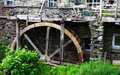 Water mill and water wheel wooden at ambleside in the english lake district Stock Image