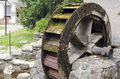Water mill wheel photo of an old Stock Images