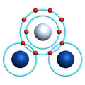 Water molecule on white background Royalty Free Stock Image