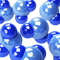 Water molecules Royalty Free Stock Photo