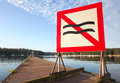Water navigation mark No wave on the pier Royalty Free Stock Image