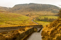 Water overflow at Dovestone reservoir Royalty Free Stock Photo