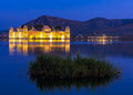 Water palace jal mahal at night man sager lake jaipur rajasth the was built during the th century in the middle of Royalty Free Stock Photo