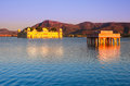 Water palace under sunset jaipur rajasthan india Stock Images