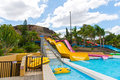 Water park slides Royalty Free Stock Photo