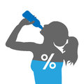 Water percentage in body Royalty Free Stock Photo