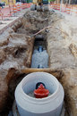 Water pipe installation Royalty Free Stock Photo