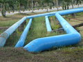 Water pipeline located in housing area riau indonesia Stock Photos