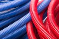 Water pipes red and blue Stock Photography