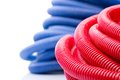 Water pipes rolls of red and blue Royalty Free Stock Photo