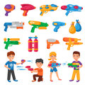 Water Pistols Set Royalty Free Stock Photo