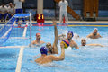Water polo action Royalty Free Stock Photo