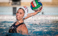Water polo action game Royalty Free Stock Photo