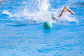 Water polo action in a swimming pool Stock Image