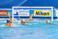 Water polo barcelona july pietro figlioli italy aginst felipe perrone spain in action during barcelona fina championships on july Royalty Free Stock Images