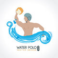 Water polo design over white background vector illustration Royalty Free Stock Photos