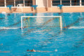 Water polo goal on the pool Royalty Free Stock Image
