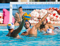Water polo match Stock Images