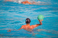 Water polo player in action Royalty Free Stock Image